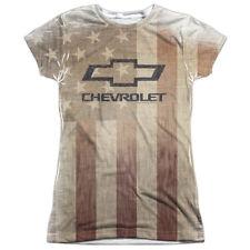CHEVY AMERICAN PRIDE Licensed Front Print Women's Junior Tee Shirt SM-2XL