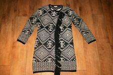 MONSOON cardigan coat SIZE S 8 10 sparkle tassel nordic fair isle lagen look