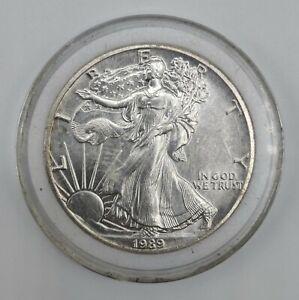 1989 Walking Liberty US Eagle Silver Dollar Coin 1 Oz .999 Fine Silver #7