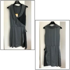 FENDI Made in Italy Sleeveless Dress 100% Silk Size 42 Italian New with Tag-