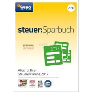 Buhl WISO steuer Sparbuch 2018 (für Steuerjahr 2017) ESD GreenIT Win 7   8   10