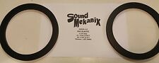 """PVC Plastic Speaker / Spacer Rings, 5.25"""" 6MM Thick One Pair Made in USA"""