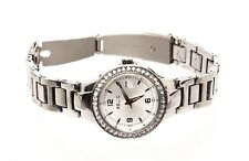 Relic Women's Crystals Date Silver Stainless Steel Watch 0661