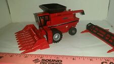 1/64 CUSTOM case ih 1680 combine w/ clear cab hopper duals & heads ERTL farm toy