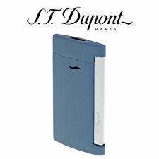 NEW ST Dupont Slim 7 Matte Shark Blue Flat Jet Torch Flame Lighter 027739