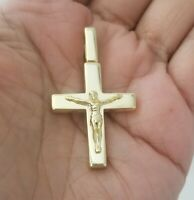 14k Yellow Gold Jesus Christ Crucifix Cross Charm Pendant
