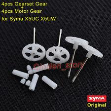 4PCS Original Motor Gear+Gear Wheel for Syma X5UC X5UW RC Drone Quadcopter Spare
