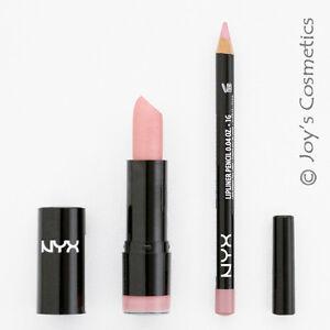 2 NYX Round Lipstick 504 Harmonica + Slim Lip Liner 848 Flower *Joy's cosmetics*