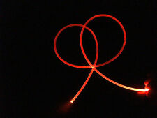 "3mm ""NEON GLOW"" fiber optic fiber + free bonus,  Lights up like a neon light!"