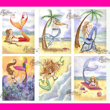 SUMMER MERMAID NOTE CARDS from Original Watercolors by Grimshaw