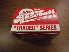 1989 Topps Baseball Traded Series In Box jh30