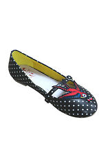 new banned shoes swallow tattoo flash print flat pumps