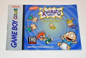 MANUAL ONLY Rugrats Time Travelers Original Nintendo Gameboy Color