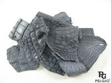 PELGIO Genuine Crocodile Alligator Skin Leather Hide Pelt Scraps 100 g. Grey
