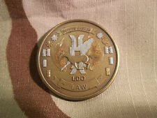 U.S. Navy LIMITED DUTY OFFICER LDO LAW Serving Justice Challenge Coin USMC