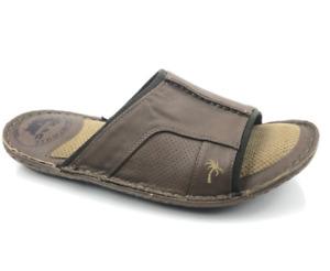 New Margaritaville Soles Of The Tropics Men's Brown Slide Sandal Size 12M