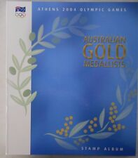 2004 ATHENS OLYMPIC GAMES. AUSTRALIAN GOLD MEDALLISTS Prestige Stamp album.