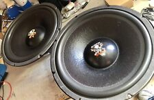 """PAIR Old School Orion The Hott Set-up SVC 15"""" Subwoofers,Rare,vintage,USA Made"""