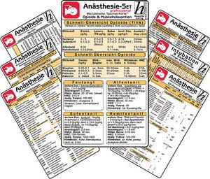 Anästhesie Karten-Set -professional- ( 7er-Set )