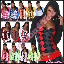 Jumper Sexy Women's Ladies Pullover Casual Top with Bolero Size 8/10,10/12 UK