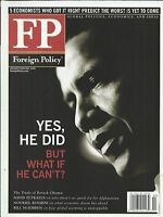 Foreign Policy Magazine Barack Obama General David Petraeus Global Economy 2009