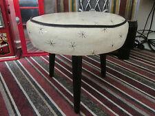 vintage 50's sputnik atomic dansette leg stool retro classic piece