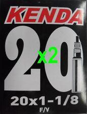 "2x Kenda 20"" PRESTA BMX RACE Tube 20x1-1/8"" P/V F/V 36mm Valve"