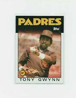1986 Topps Tony Gwynn #10 Baseball Card - San Diego Padres HOF