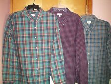 NWT NEW mens teal navy blue yellow red plaid SONOMA l/s casual dress shirt $50