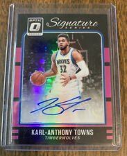 2016-17 Donruss Optic Karl-Anthony Towns Autograph #10/25 Timberwolves