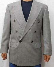 HUGO BOSS Double Breasted Suit Blazer Glen Check Wool Cashmere Germany Al Capone