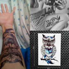 Men Women Waterproof Temporary Body Tattoos Large Owl Tattoo Arm Sticker: N1X1