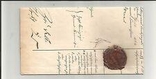 """Preussen V. / WERNE Ra2 + blau Tax. """"4"""" auf Post-Ins.-Dok.-Brief m. Kr/Ph-Siegel"""
