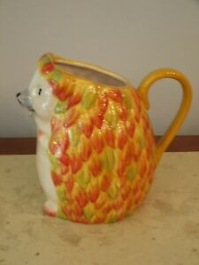 NEW IN BOX PIER 1  HEDGEHOG  PITCHER  /VASE HOME DECOR