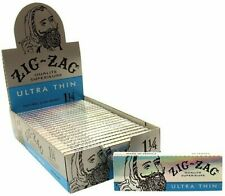 Zig Zag Ultra Thin Cigarette Rolling Papers Full Box 24x Booklets 32 Leaves