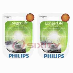 2 pc Philips Front Side Marker Light Bulbs for Pontiac Wave Wave5 2005-2008 ij