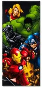 MARVEL AVENGERS END GAME BEACH TOWEL 28X58 100% COTTON HULK GROOT ETC GREAT GIFT