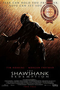 THE SHAWSHANK REDEMPTION 1994 90s ORIGINAL CINEMA MOVIE PRINT PREMIUM POSTER
