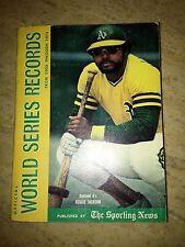 1973 BASEBALL OFFICIAL WORLD SERIES RECORDS 1903 THROUGH 1973 THE SPORTING NEWS