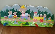 Bear Wall Rack Wooden Painted Childs Room Nursery Bears Mountains Germany