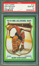 1973 74 TOPPS #10 KEN DRYDEN PSA 10 GEM MINT! POP 1