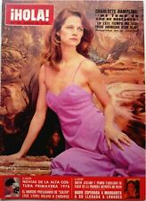 Spanish HOLA 1976: CHARLOTTE RAMPLING_FARAH DIBA PAHLAVI_MODE ROBES DE MARIEE