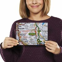 A5 - Cwmbran Wales Welsh Travel Map Print 21x14.8cm 280gsm #44824