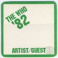 The WHO 1982 Farewell Tour Backstage Pass Green