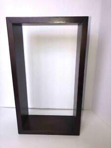 "Wood Tall or Long Shadow Box Floating Wall Shelf Rectangle Cube 3.5X9X16"""