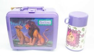 Vintage NOS 1996 Disney The Lion King Purple Lunch Box w/ Thermos & Original Tag