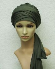 Volume turban, bad hair day snood, chemo head wear, head covering, stretchy hat
