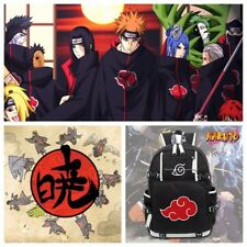 Naruto Akatsuki Red Cloud Backpack School Shoulder Bag Rucksack Cosplay Anime