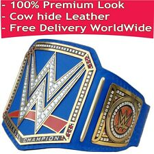 WWE Universal Championship Blue Replica Title Belt Leather Zinc / Brass 2mm 4mm