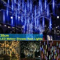 LED Meteor Shower Falling Rain Light Waterproof Christmas Party EU/US/UK Plug-HO